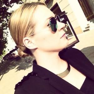 Fashionbloggerin auf der Berlin Fashionweek